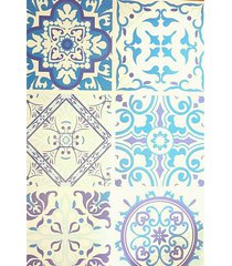 papel de parede adesivo lavavel para cozinha azulejo português hidráulico 001