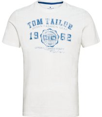 logo tee t-shirts short-sleeved vit tom tailor
