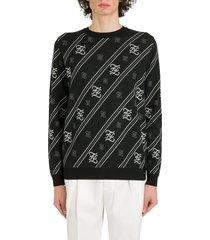 fendi jacquard logo sweater