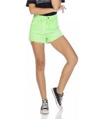 shorts jeans denim zero setentinha colorido