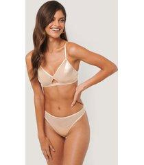 na-kd lingerie stringtrosa - beige