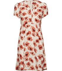 50's dress jurk knielengte oranje by ti mo