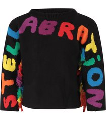 stella mccartney kids black sweater for girl with logo