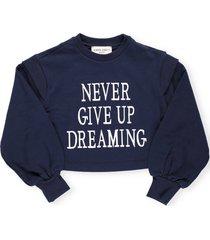 alberta ferretti never give up dreaming sweatshirt