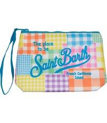 mc2 saint barth patchwork pastel color scuba pochette