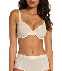 women's negative underwear sieve demi bra, size 38c - coral