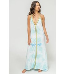 pitusa tie dye sundress light blue