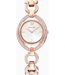 orologio stella, bracciale di metallo, bianco, pvd oro rosa