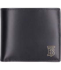 burberry leather flap-over wallet