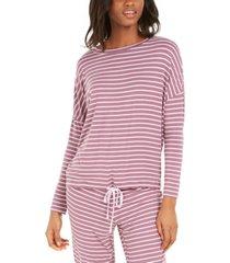 alfani okeo-tex tie-waist sleep top, created for macy's