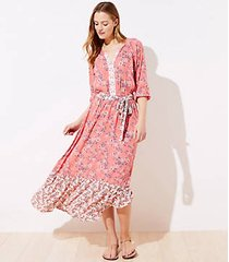 loft beach garden tiered maxi dress