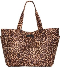 kenneth cole new york stanton reversible leopard tote