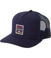 men's stacked trucker hat