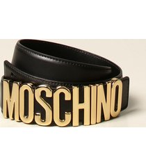 moschino couture belt moschino couture leather belt with lettering buckle