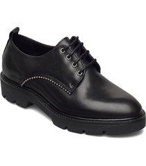 biacalder leather shoe snörade skor låga svart bianco