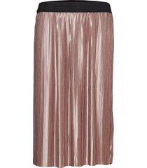 penny cecilie skirt knälång kjol rosa bruuns bazaar