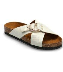 onlmaxi-2 pu croc crossover sandal shoes summer shoes flat sandals vit only