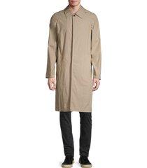 kenzo men's regular-fit longline jacket - taupe - size 46