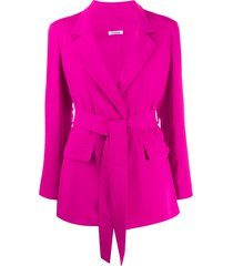 p.a.r.o.s.h. lightweight tie waist jacket - pink