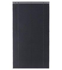 persiana horizontal em pvc block 140x150cm preta