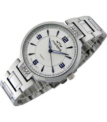 reloj plateado  montreal strass blue