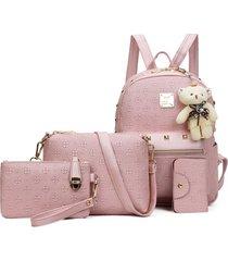 mochila de mujer/ mochila para mujer mochilas escolares para-rosa