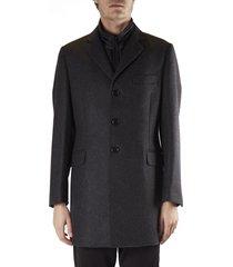 fay melange wool coat