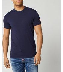 dsquared2 men's square arm patch t-shirt - navy - xl