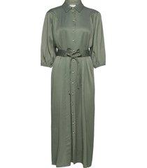 luhagz dress ms21 maxi dress galajurk groen gestuz