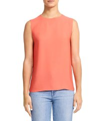 theory women's continuous silk shell top - neon pink - size s