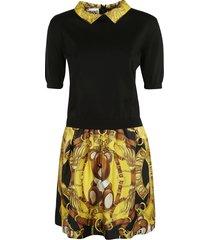 moschino rear zip bear print dress