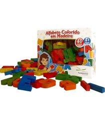 alfabeto colorido em madeira - fundamental