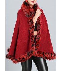 cappotto in pelliccia sintetica autunno inverno