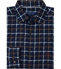 camisa dudalina manga longa fio tinto maquinetado xadrez masculina (xadrez, 6)