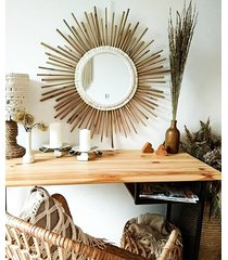 lustro bambus/makrama 50 cm