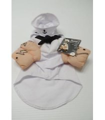 "bootique sailor dog costume pet halloween xs 11-13"" 2688435 new tattoos hat"