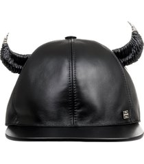 givenchy black horn cap leather