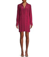 equipment women's riannon print silk shirtdress - pink - size xs