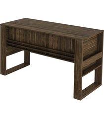 mesa escritã³rio 2 gavetas 1 c/ chave nogal tecno mobili marrom - marrom - dafiti