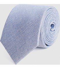 reiss ceremony - textured silk tie in airforce blue, mens