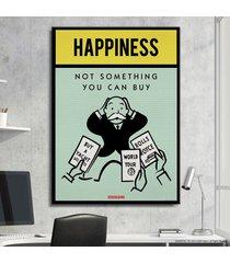 cuadro lienzo tayrona store monopoly - happiness