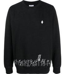 marcelo burlon county of milan cross tribe crew-neck sweatshirt -