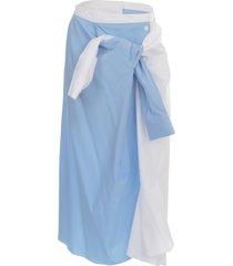 marni skirt a line cotton popeline w/knot