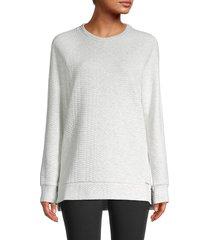 marc new york performance women's side-zip sweatshirt - optic heather - size m