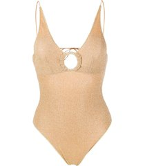 oséree lumière ring maillot swimsuit - gold