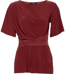 blouse t-shirts & tops short-sleeved röd ilse jacobsen