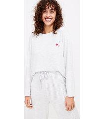 loft cherry striped pajama top