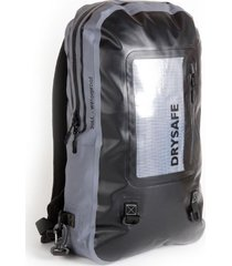 mochila notebook 20 l waterproof impermeable - gris - drysafe