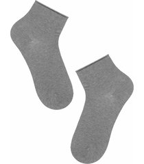 calzedonia - casual short socks with soft cuff, one size, grey, men