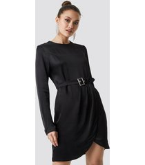 trendyol long sleeve midi dress - black